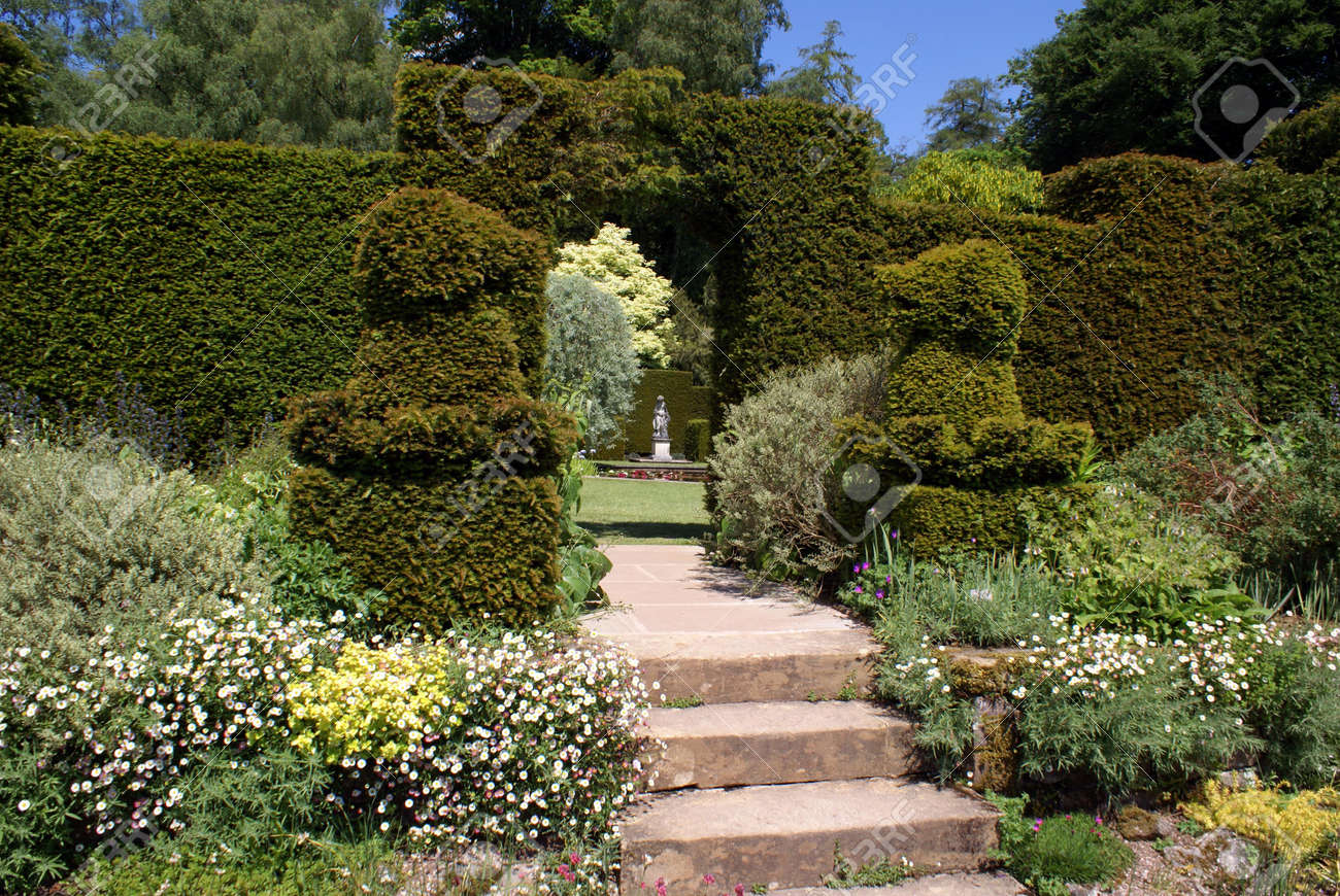 Topiary Garden Entrance Stock Photo, Picture And Royalty Free Image ...