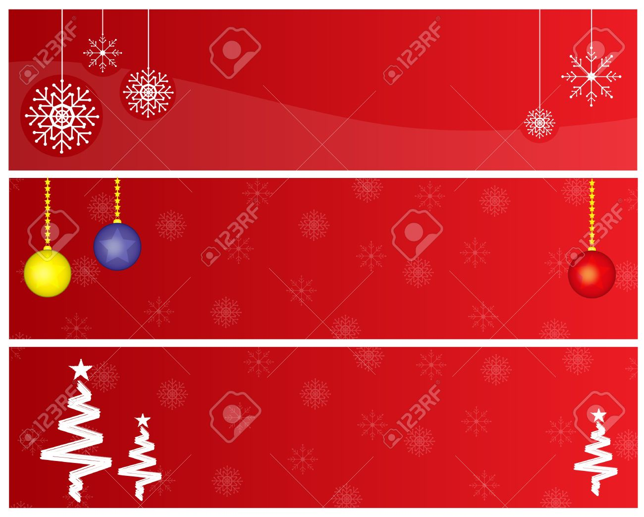 Christmas Banners Part - 32: Red Christmas Banners Stock Vector - 16442564