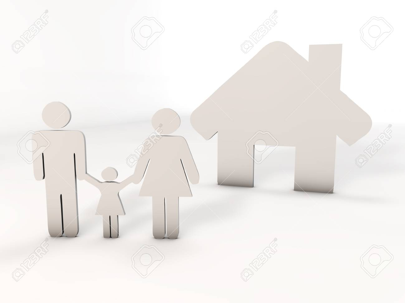 people and house Stock Photo - 17668851