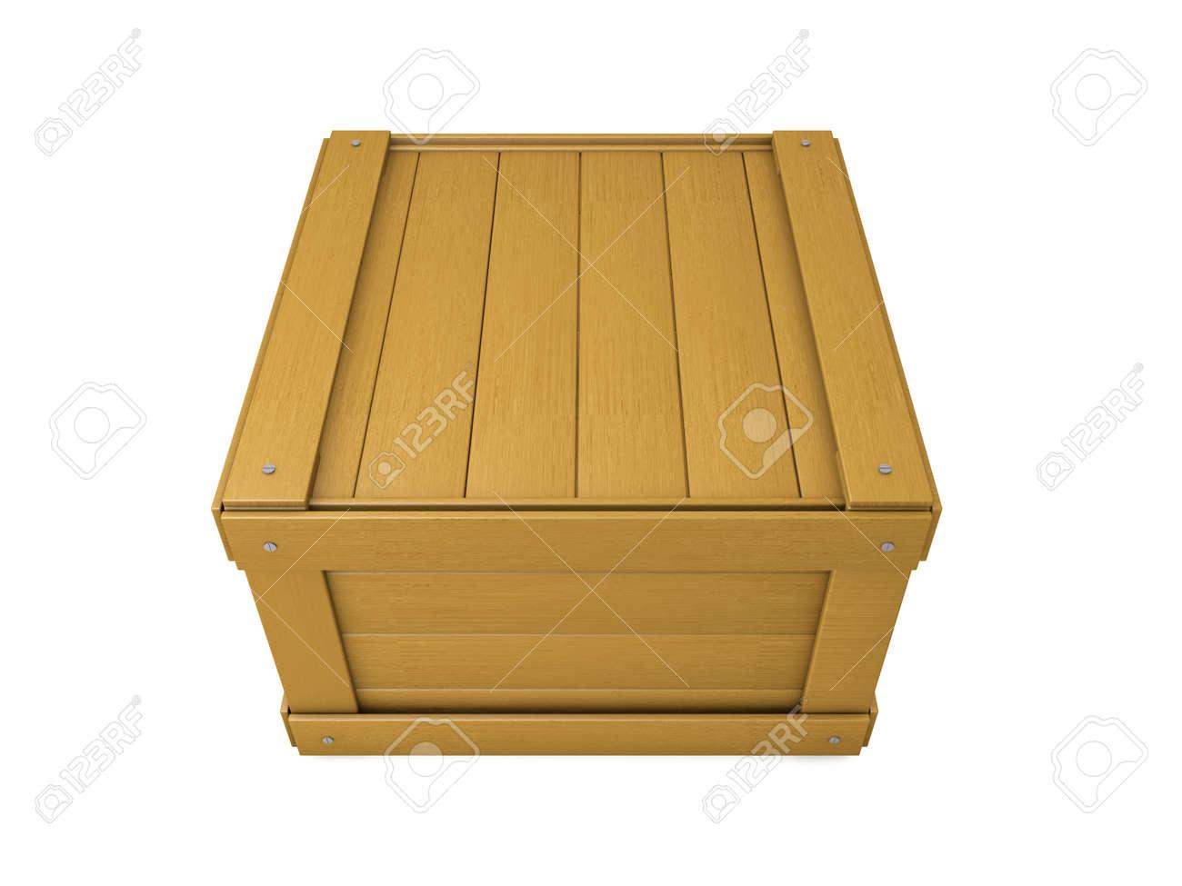 Oude Houten Kisten.Oude Houten Kist Op Wit Wordt Geisoleerd