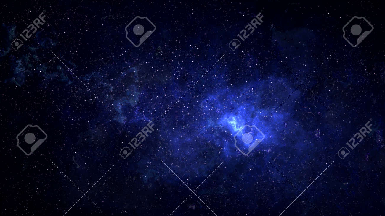 Universe filled with stars, deep space nebula and galaxy - 122302529