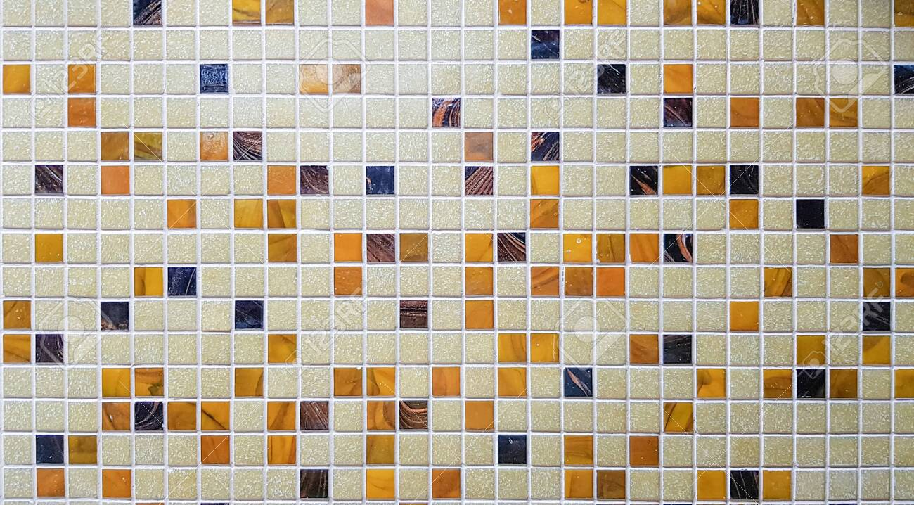 close up of colorful mosaic tiles for background mosaic tile