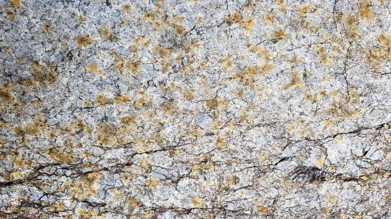 surface of the marble with brown tint. Details of sand stone texture, close up shot of rock surface with vignette at cover and bright spot at center, idea for background or backdrop - 173010808
