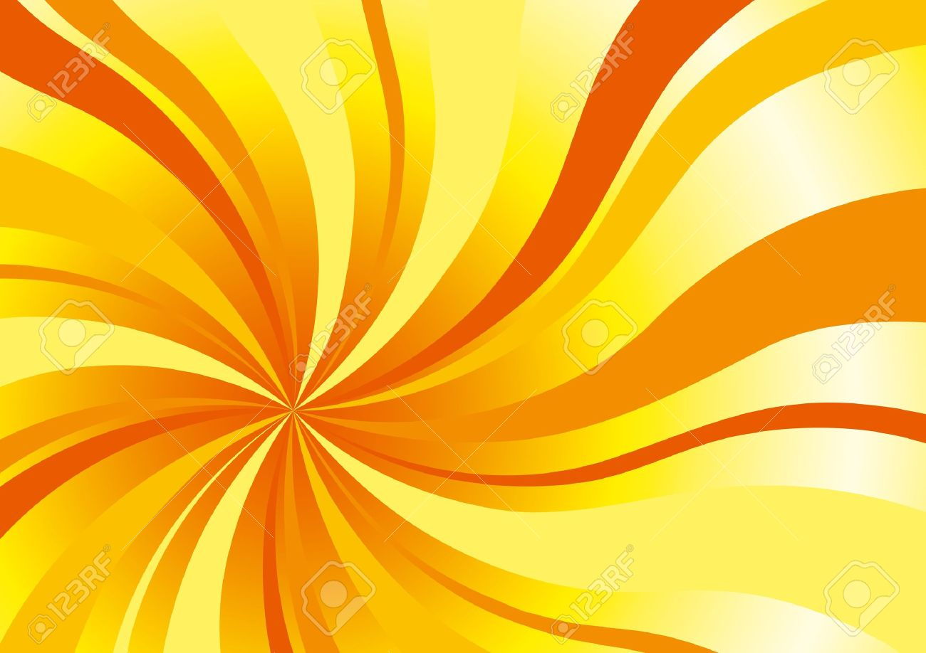 Abstract background in sun colors with bright curved rays Stock Vector - 10927889