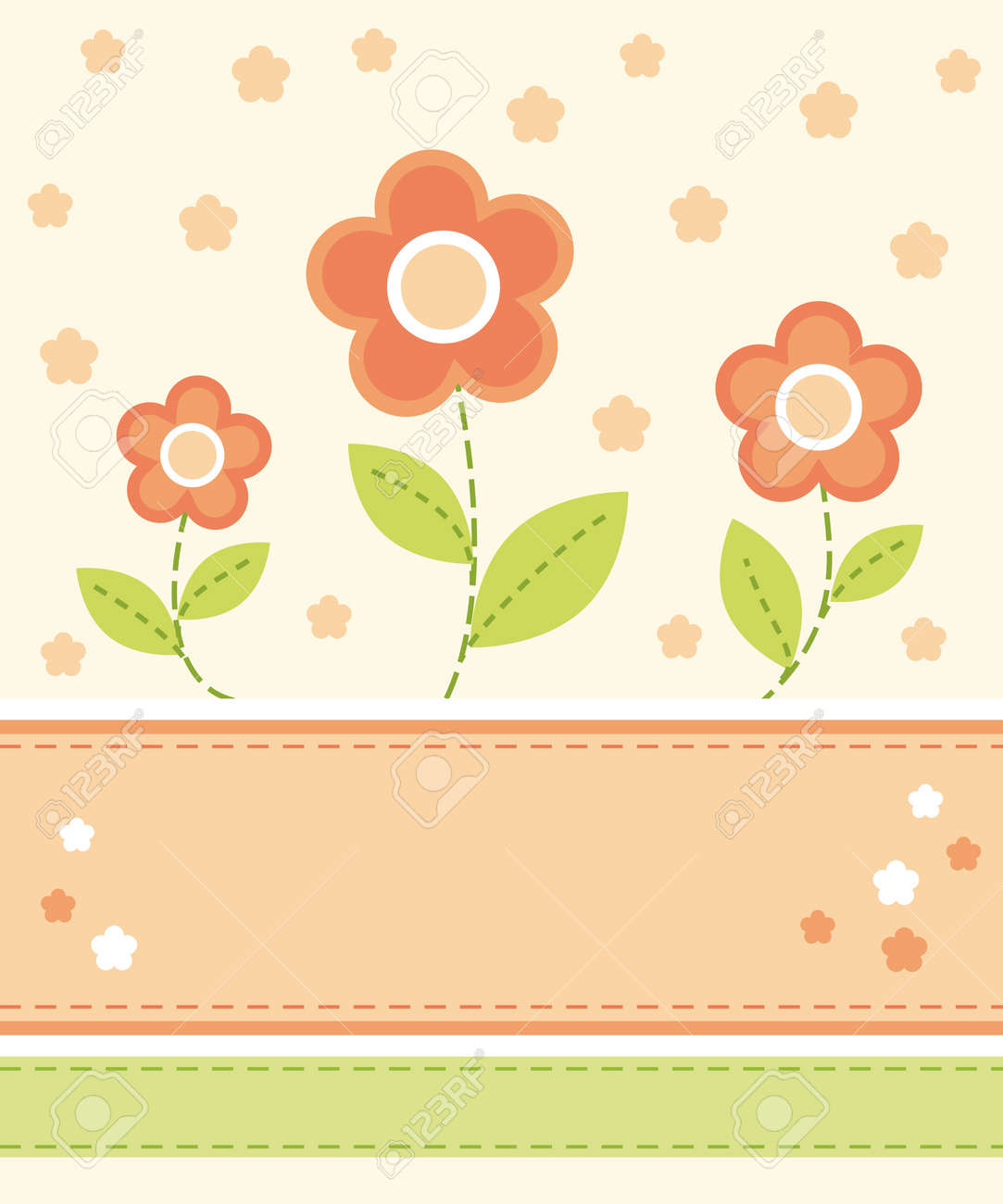 Flower card design Stock Vector - 10928213