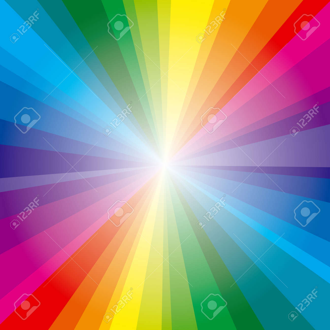Colorful background with spectrum rays Stock Vector - 10928218