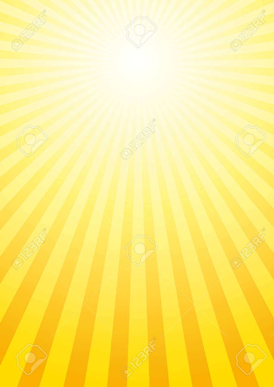 Vector background with sun beams Stock Vector - 10928219