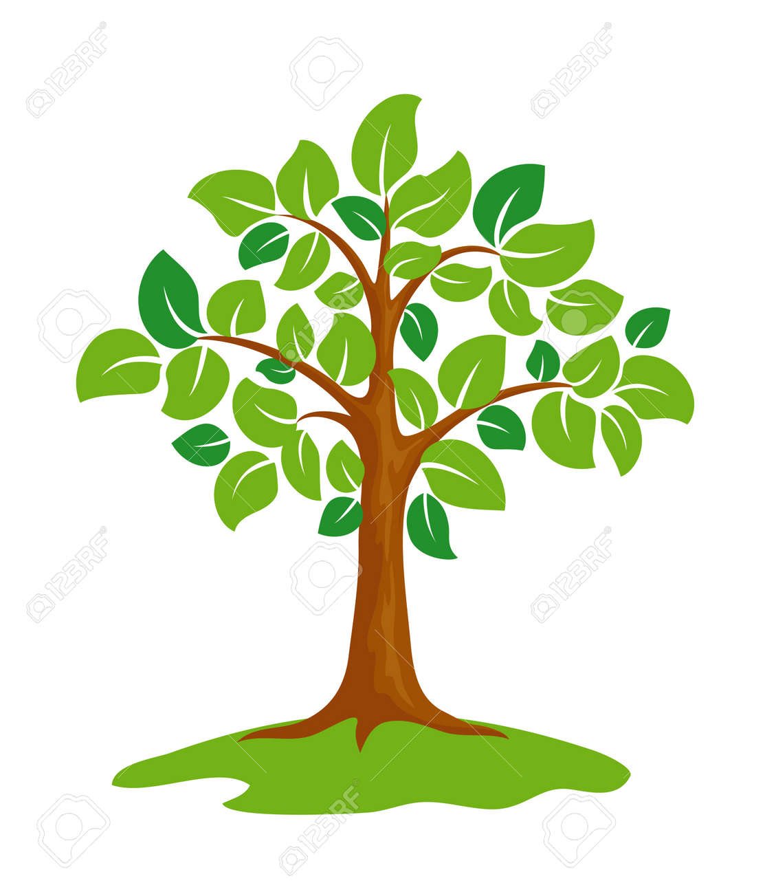 Stylized green tree. Stock Vector - 10928393
