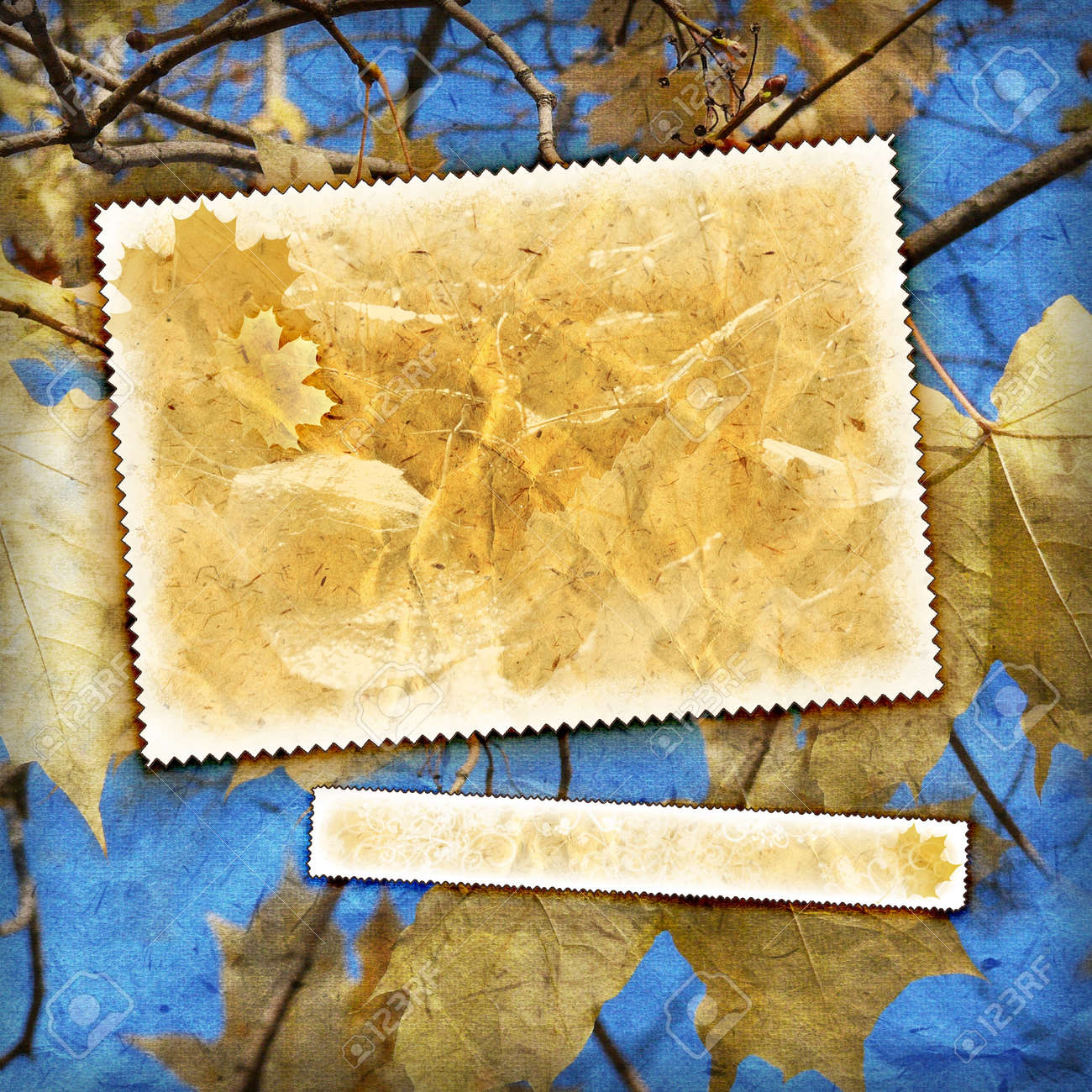 Vintage autumn background with canvas texture Stock Photo - 10966249
