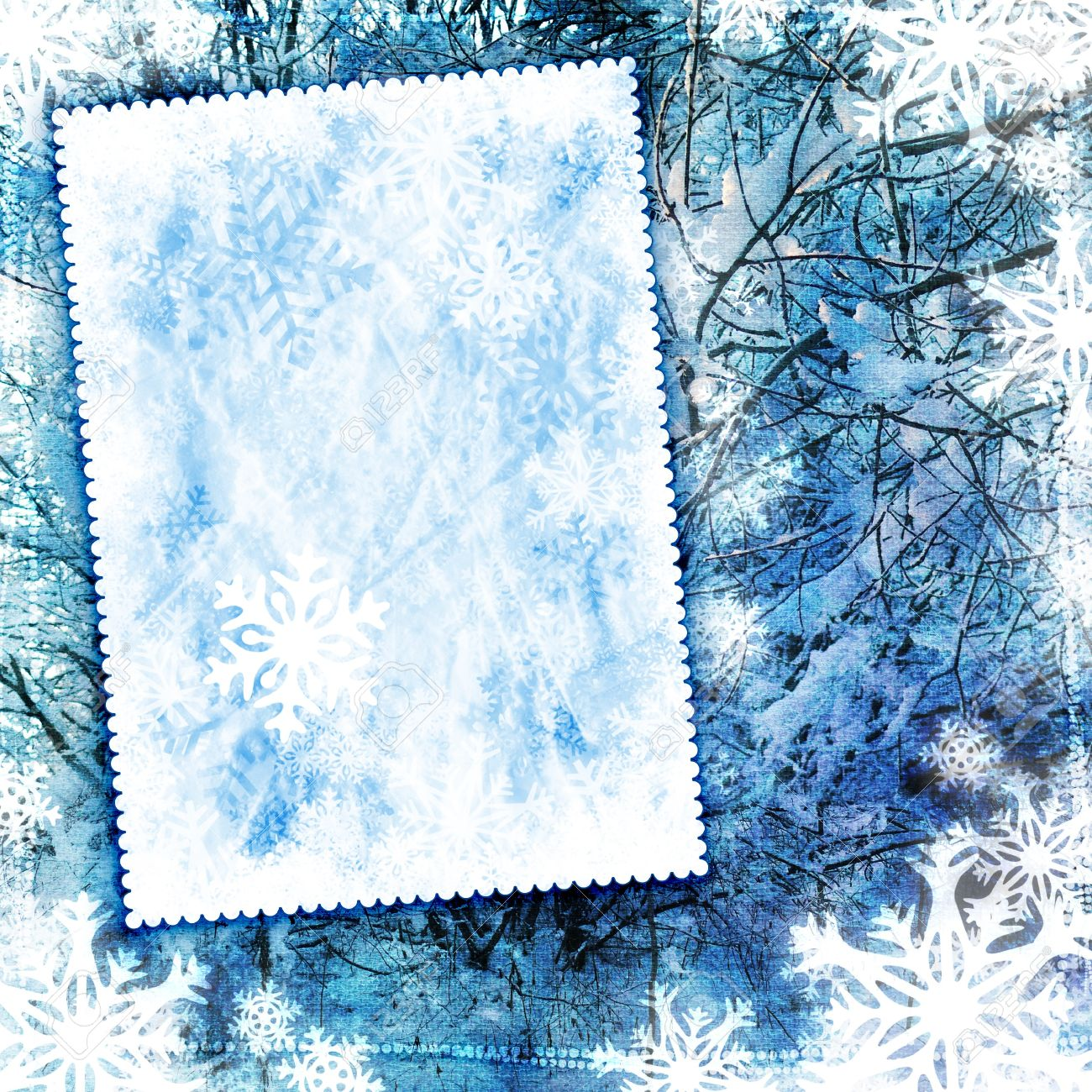 stock photo vintage winter background with canvas texture