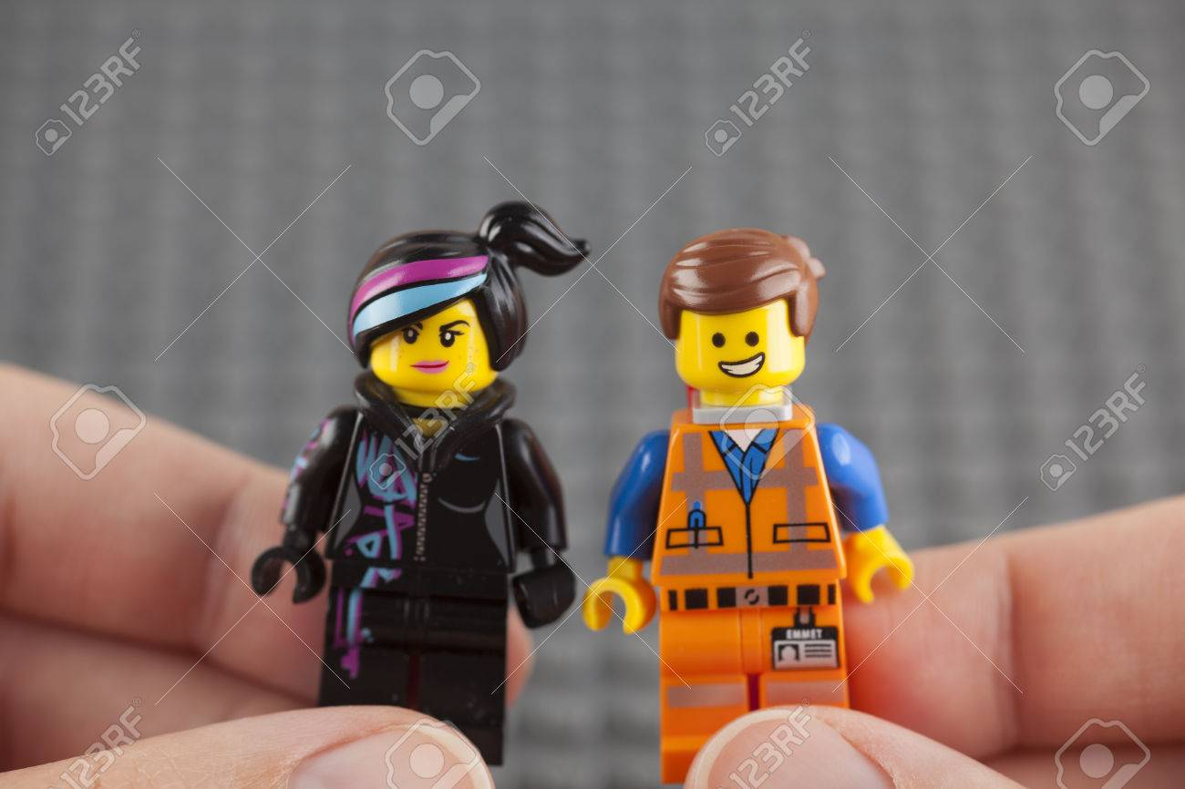 Tambov Russian Federation July 26 2014 Lego Hard Hat Emmet Stock Photo Picture And Royalty Free Image Image 42183119