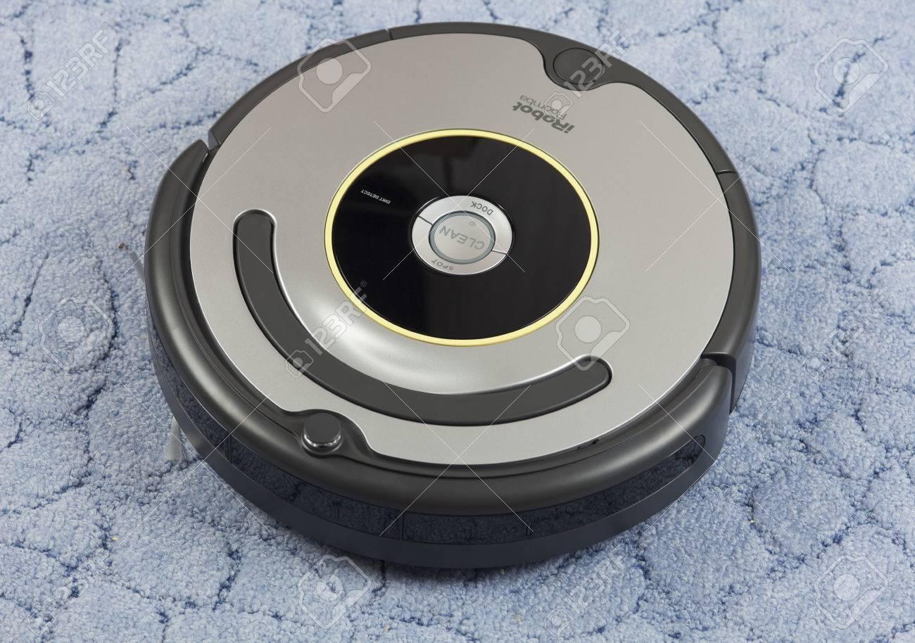 Tambov, Russian Federation - January 26, 2014 iRobot Roomba 630