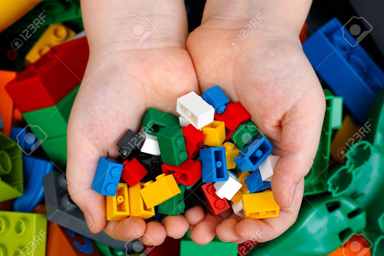 Tambov Russian Federation February 20 2015 Lego Bricks In