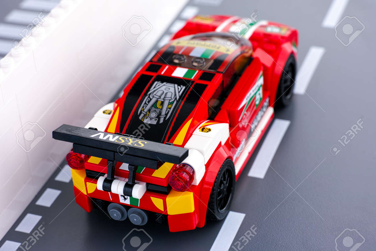 Tambov Russian Federation March 18 2015 Lego Ferrari 458 Stock Photo Picture And Royalty Free Image Image 59755071
