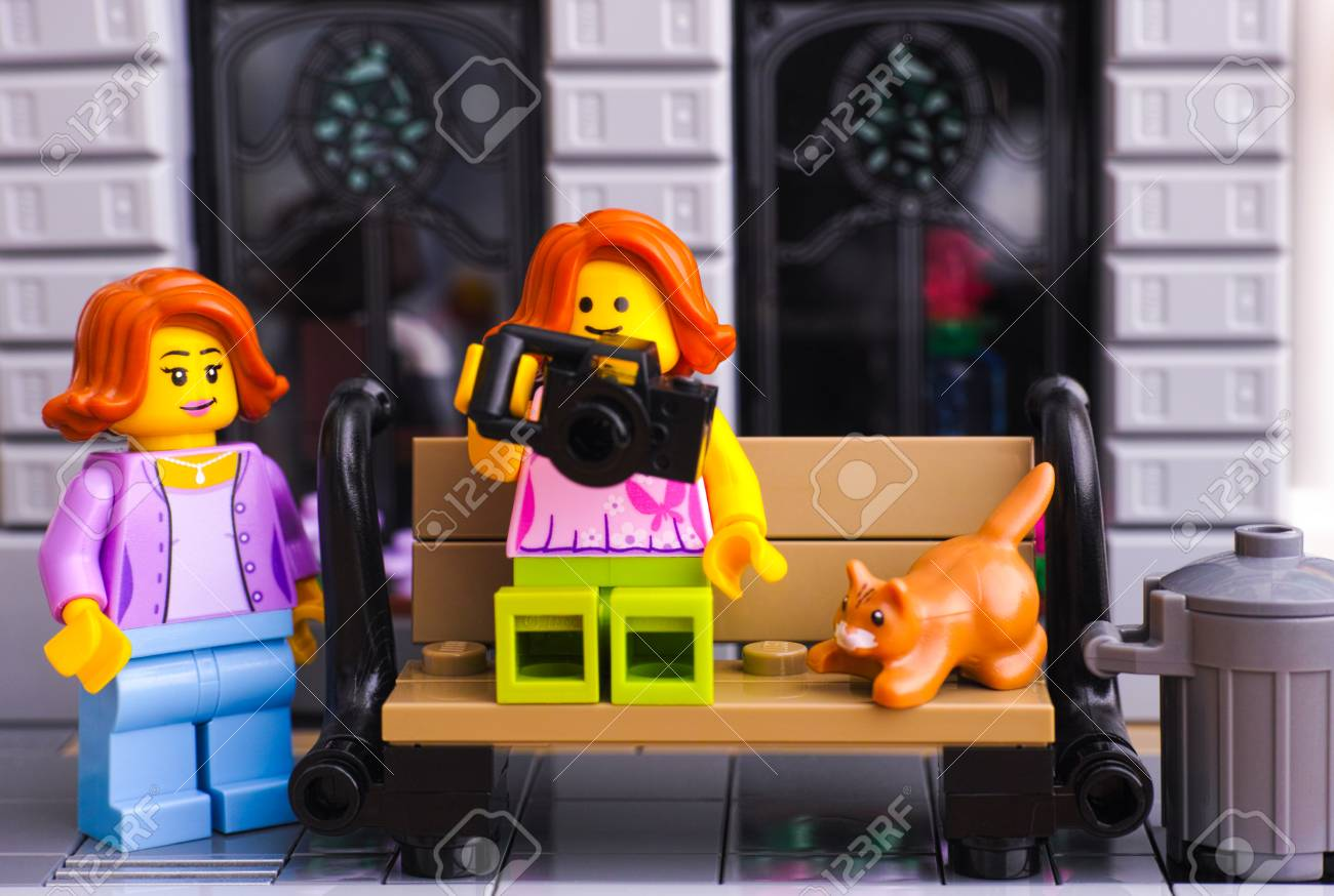 Tambov, Russian Federation - January 21, 2017 Lego girl with