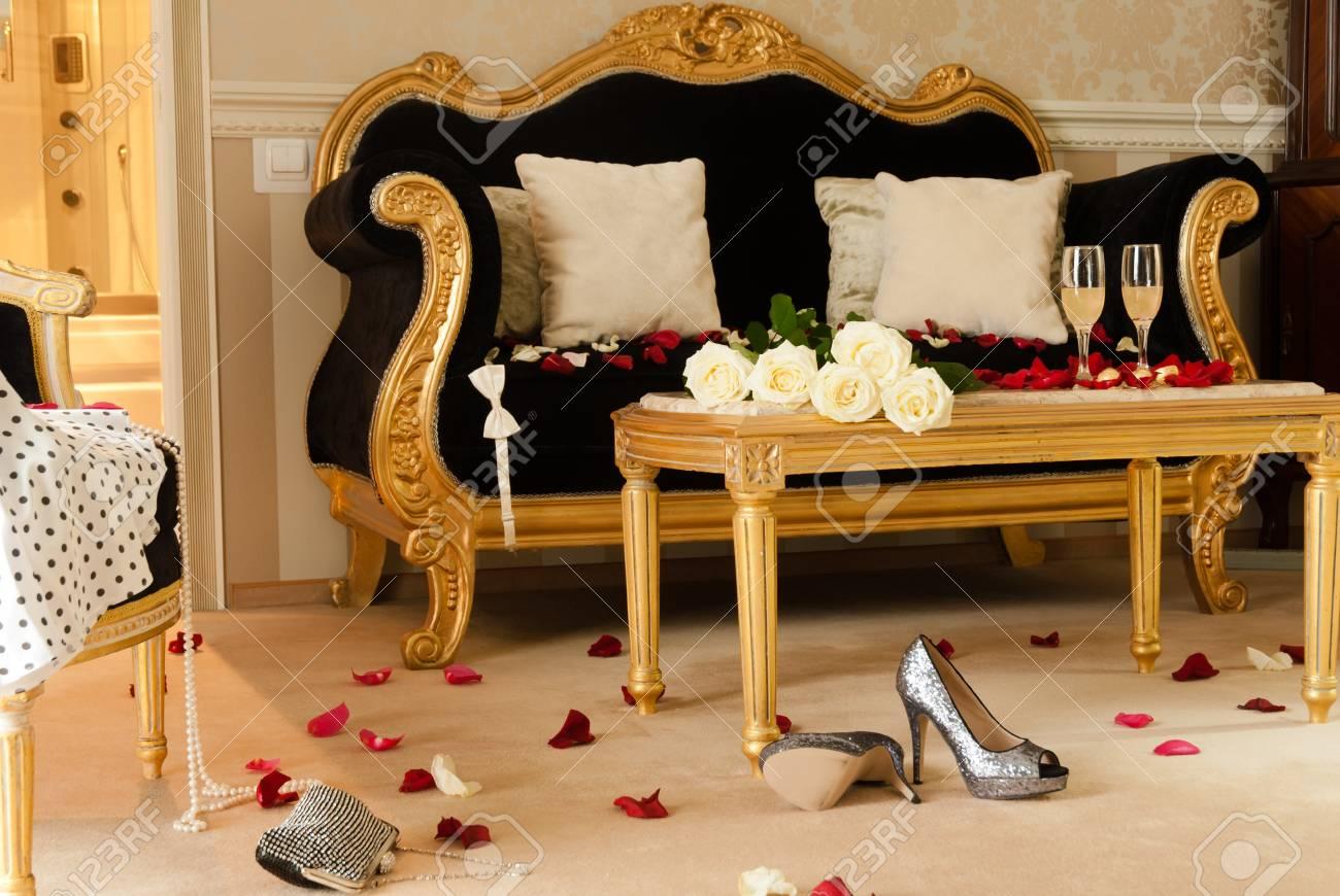 Gorgeous hotel room prepared for celebration Stock Photo - 17819936