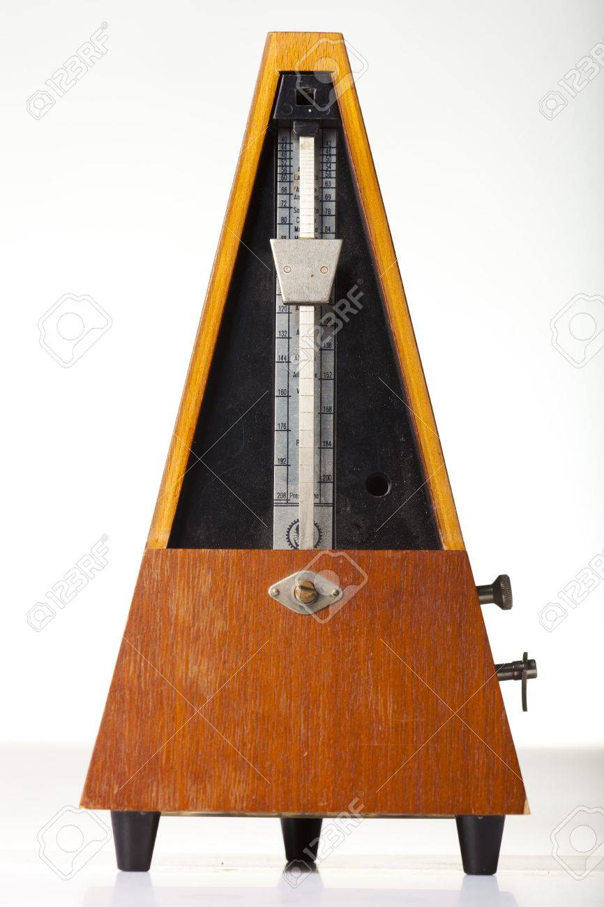 musical metronome on a white Stock Photo - 12667164