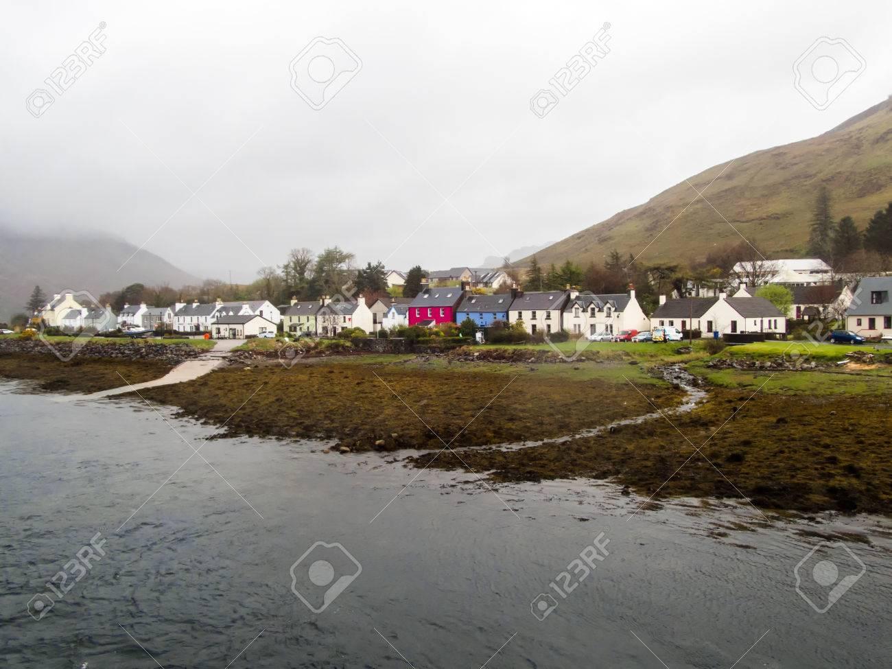 Scottish scene in the rain and mist  The beautiful small former