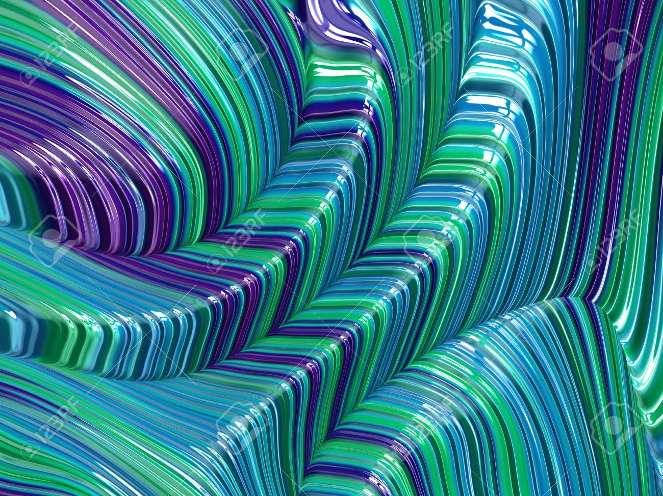 wholesale dealer ef878 c7e19 Colorful turquoise and purple fractal image in shiny 3d effect Stock Photo  - 96128538