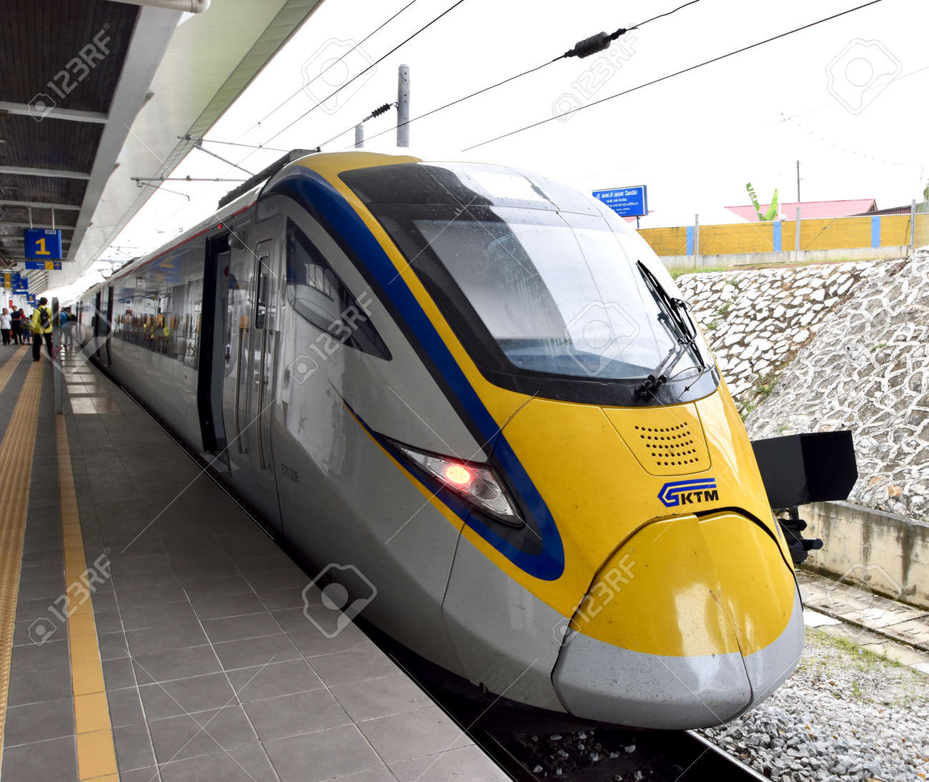 ets train inter city rail service in malaysia stock photo picture