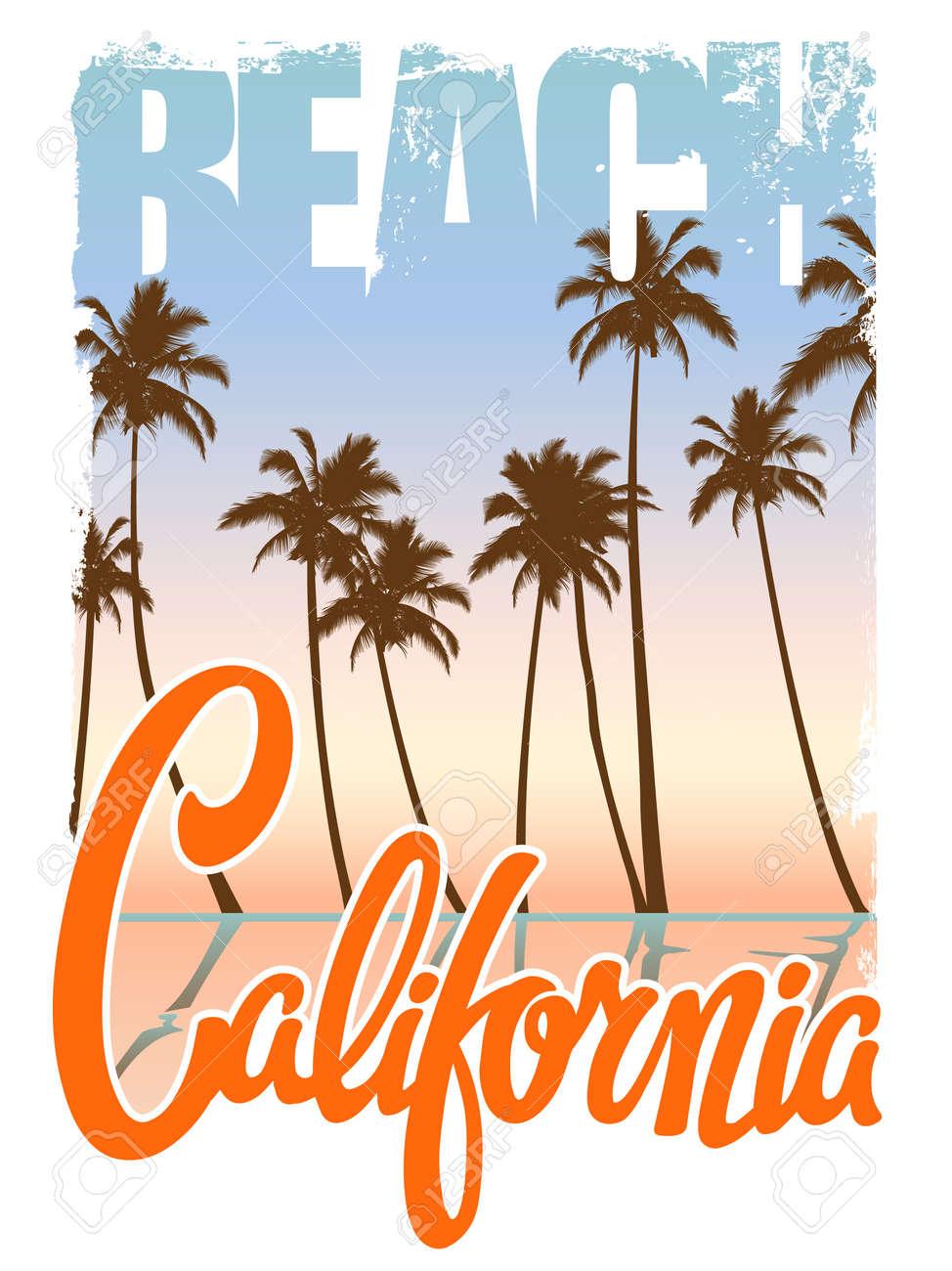カリフォルニア ビーチ タイポグラフィ グラフィック スポーツ アパレル