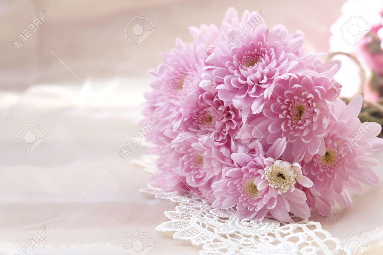 Pink flower bouquet on thin white fabric background wedding stock pink flower bouquet on thin white fabric background wedding concept stock photo 85443665 izmirmasajfo
