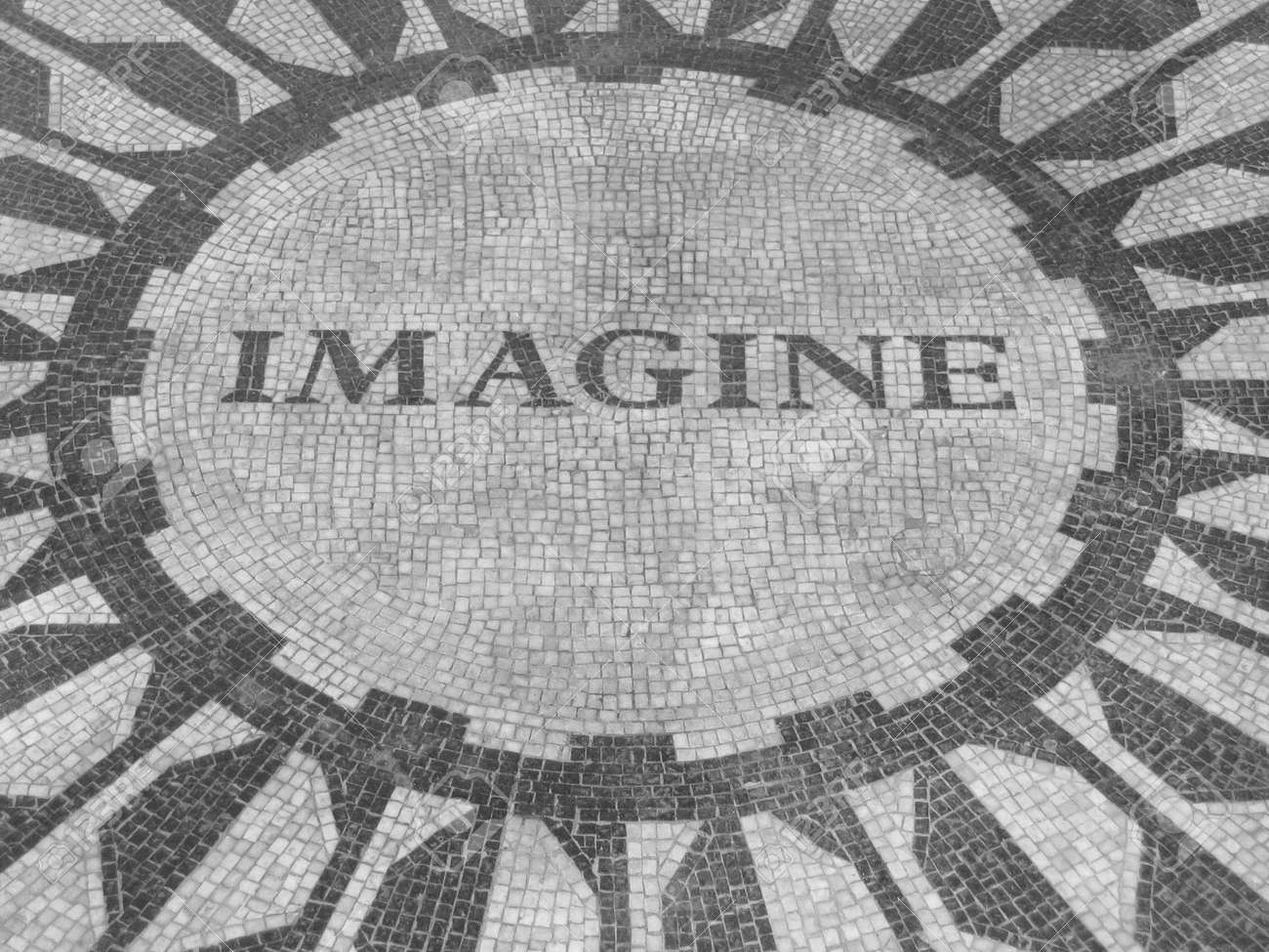 Imagine John Lennon Memorialsign New York City Stock Photo Picture And Royalty Free Image Image 2328048