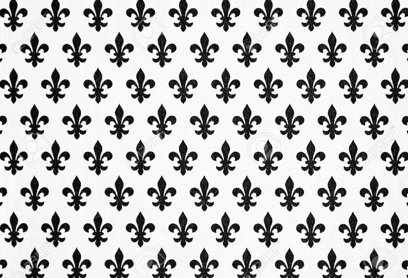 Lily Symbolen Hintergrund Für Design Und Dekorieren, Lilie Tapete  Standard Bild   17623112