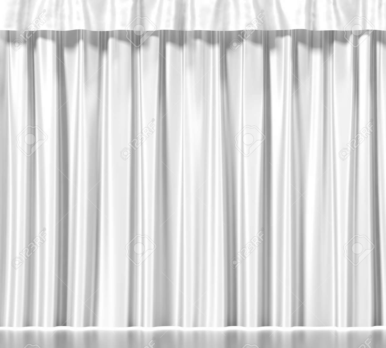 White Clean Curtain Background 3d Illustration High Resolution