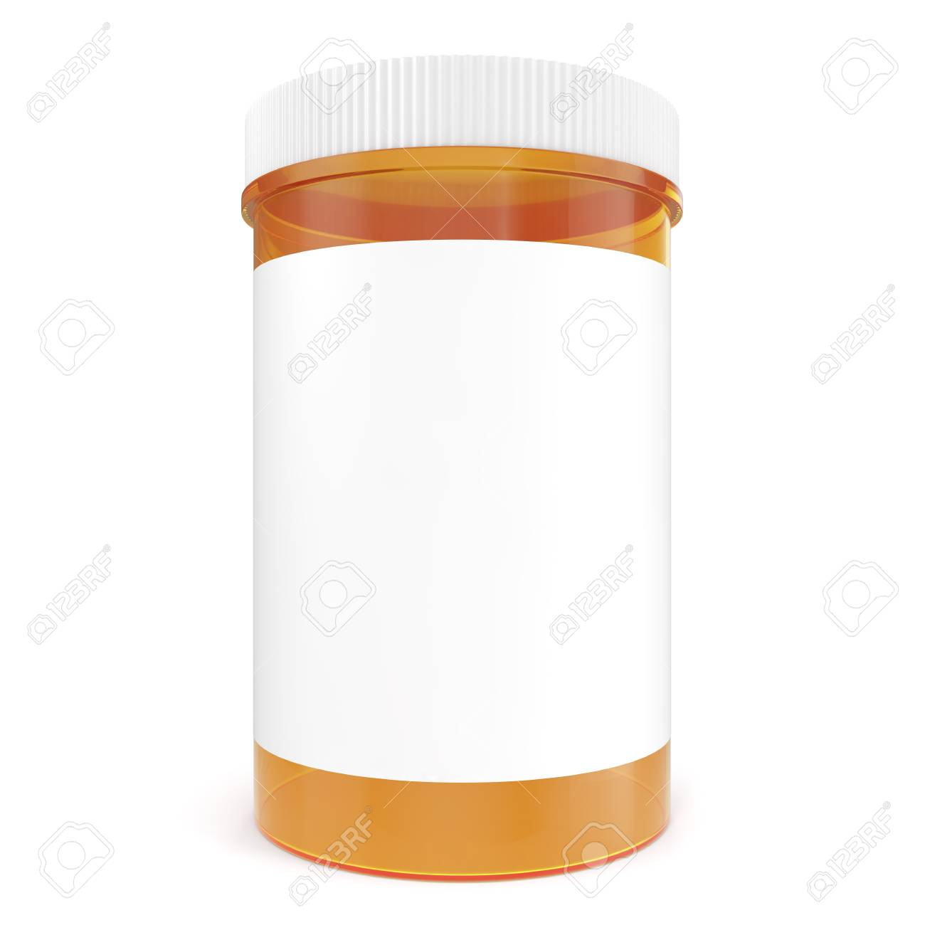 Transparent Yellow Bottle Of Prescription Pill With Labels Template - Pill bottle label template