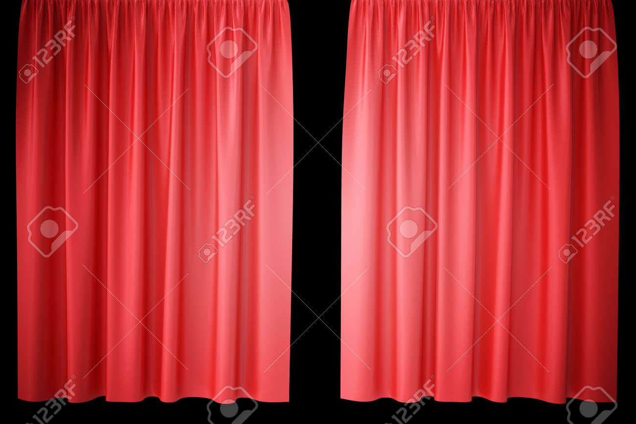 curtains image stock vector bigstock velvet red curtain photo
