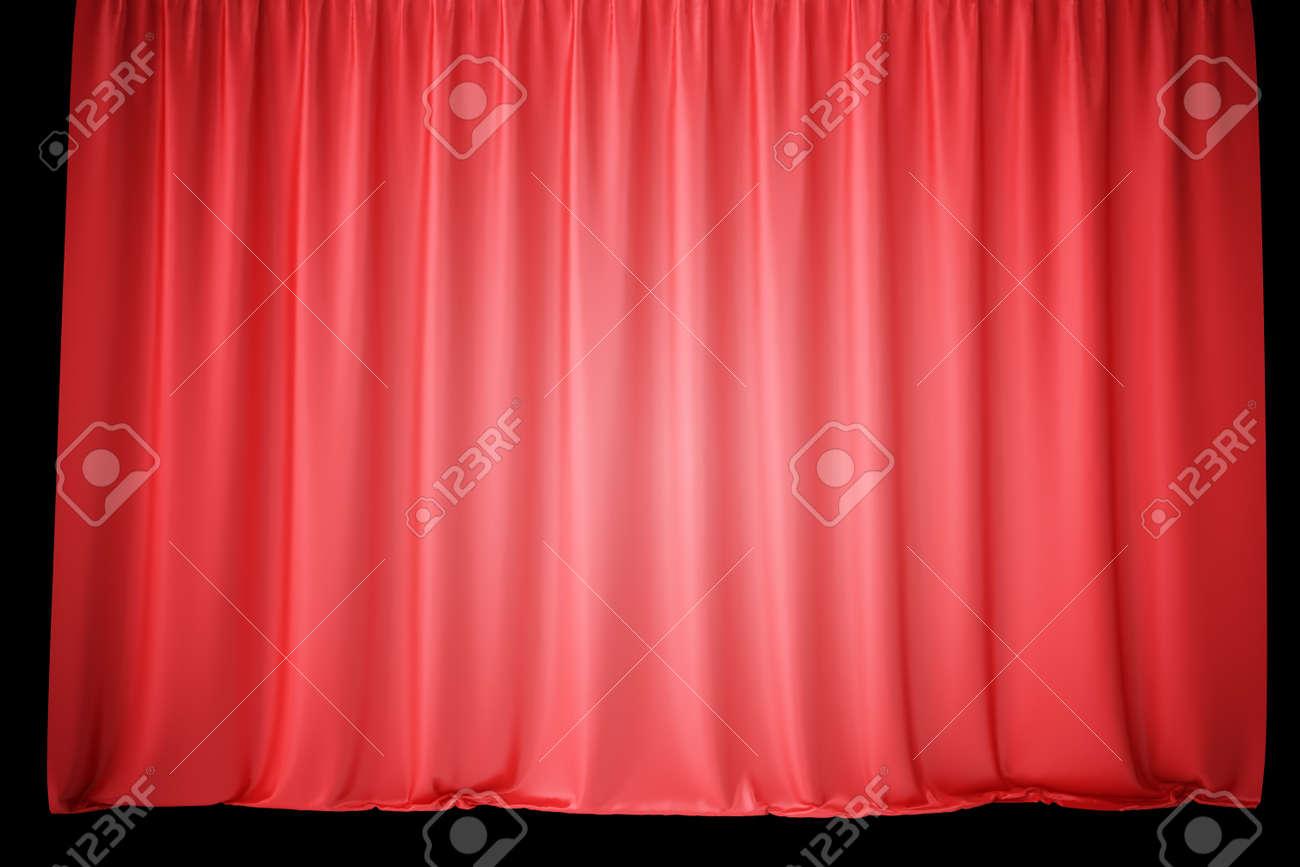 Des Rideaux De Scène En Velours Rouge Des Draperies De Théâtre