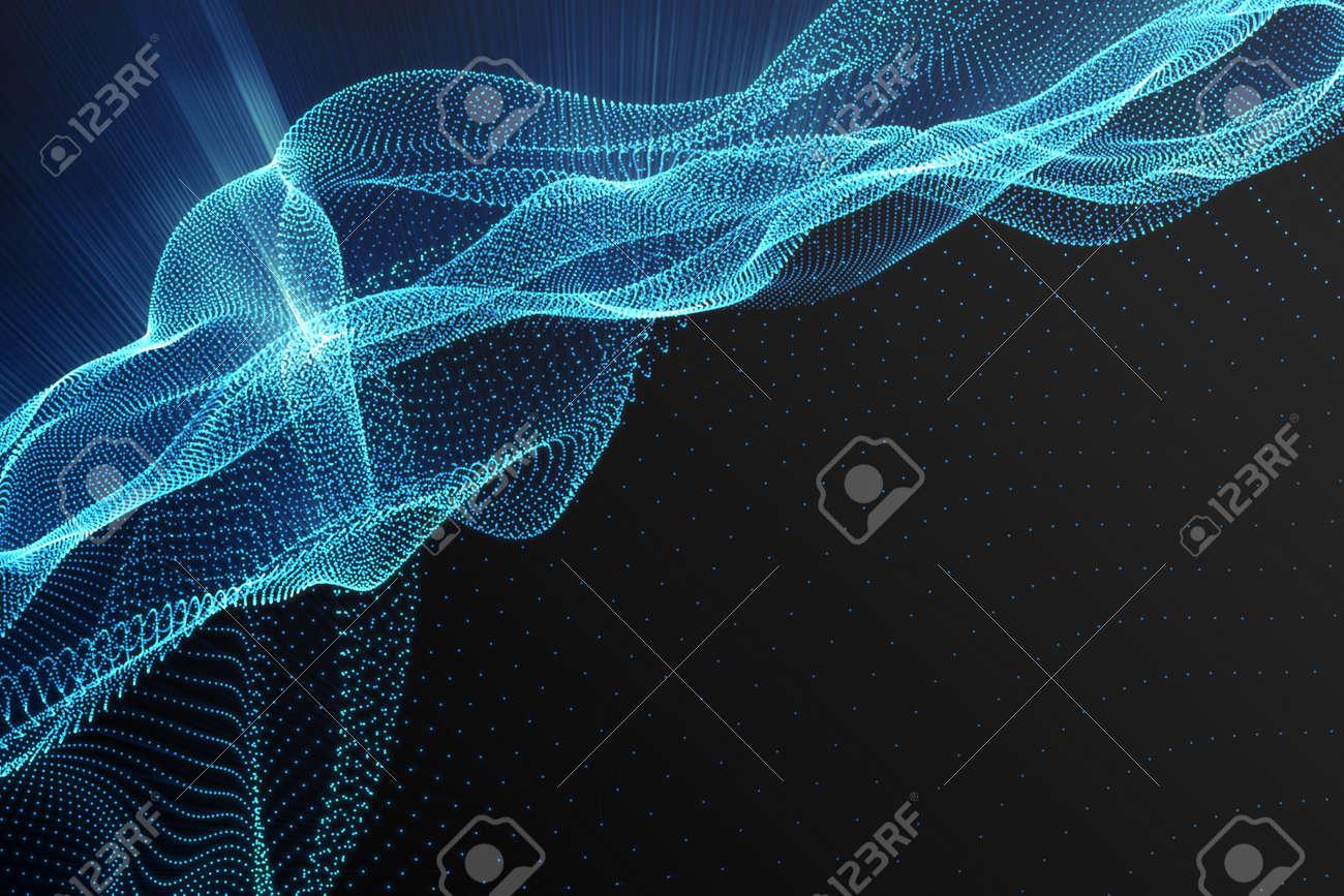 Paisaje De Fondo. Red Del Paisaje Del Ciberespacio. Tecnología 3d ...