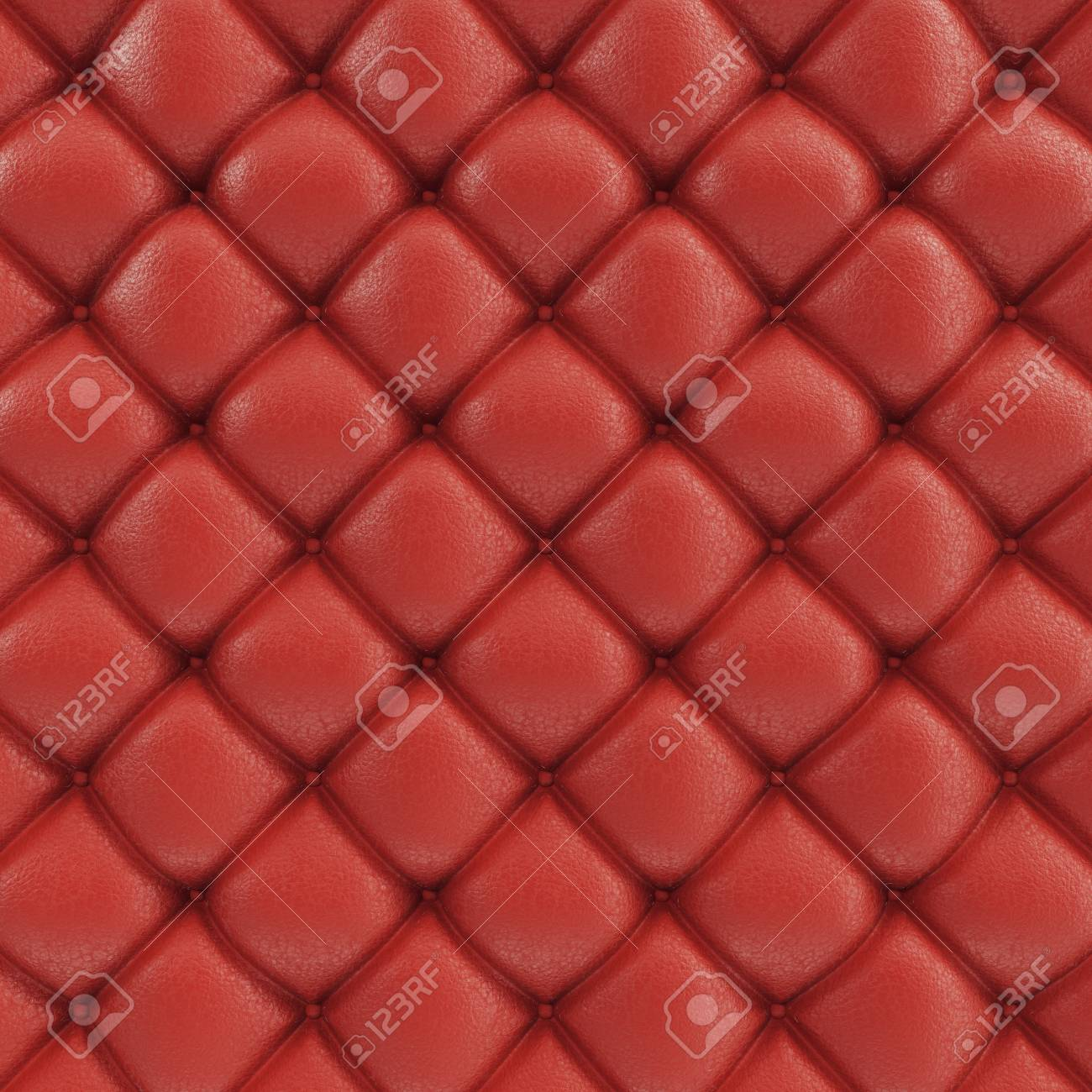 3d Illustration Leather Sofa Texture Luxurious Texture Of Red