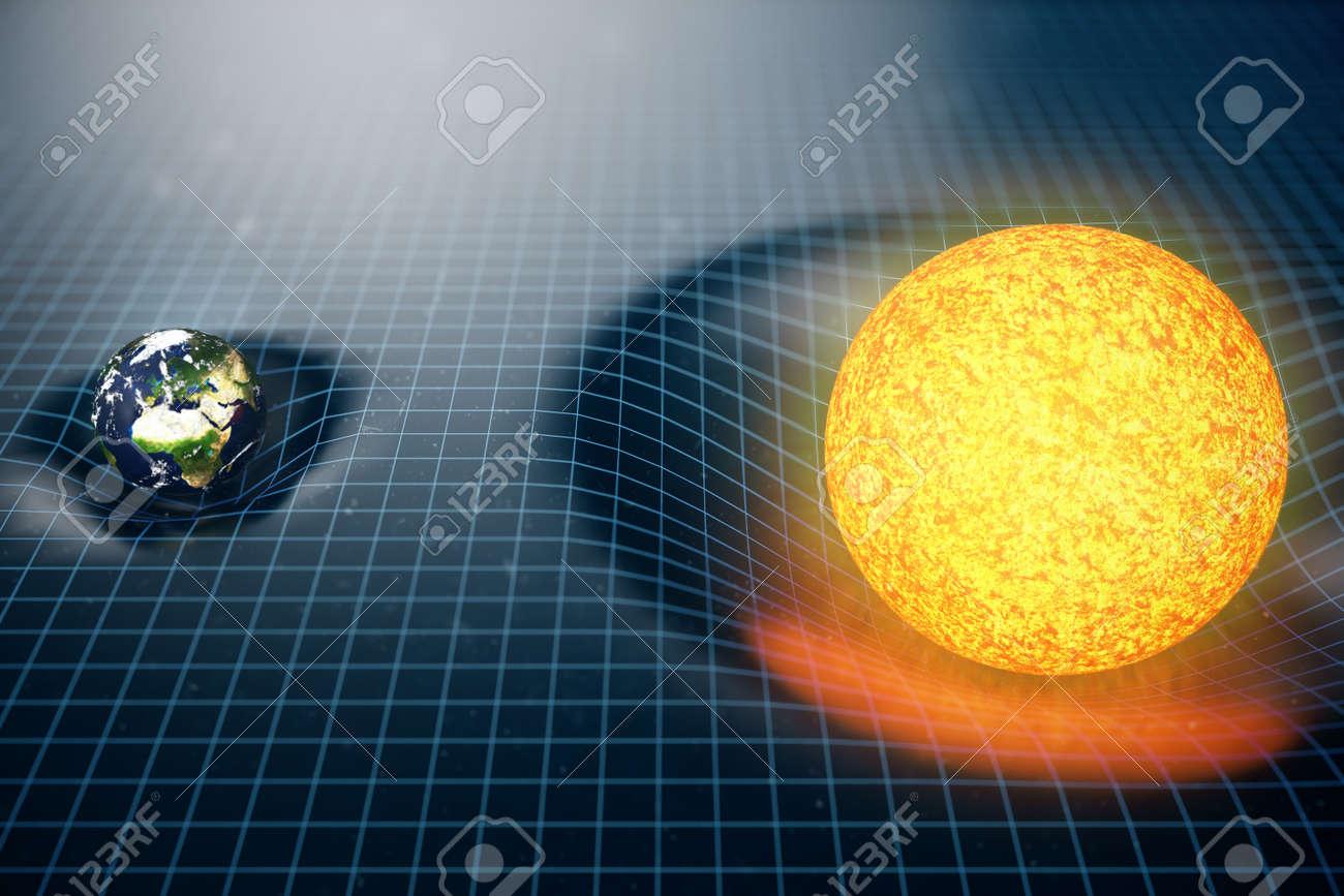 que es curvatura del espacio-tiempo
