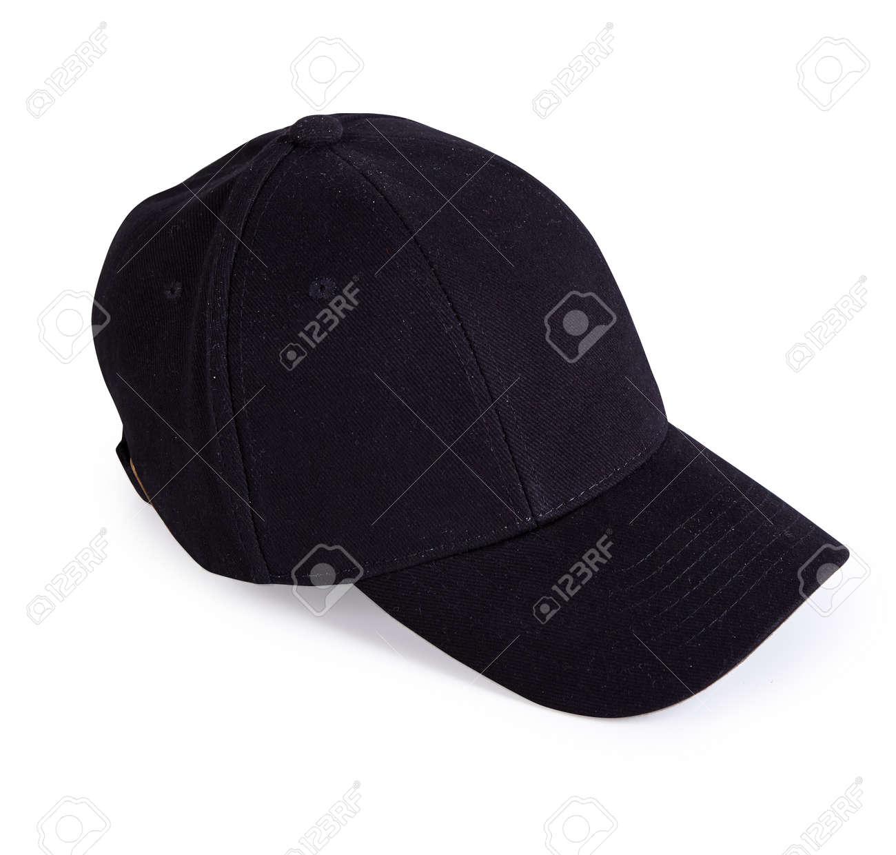 1eb10b35 Black Baseball Cap Isolated On White Background Stock Photo, Picture ...