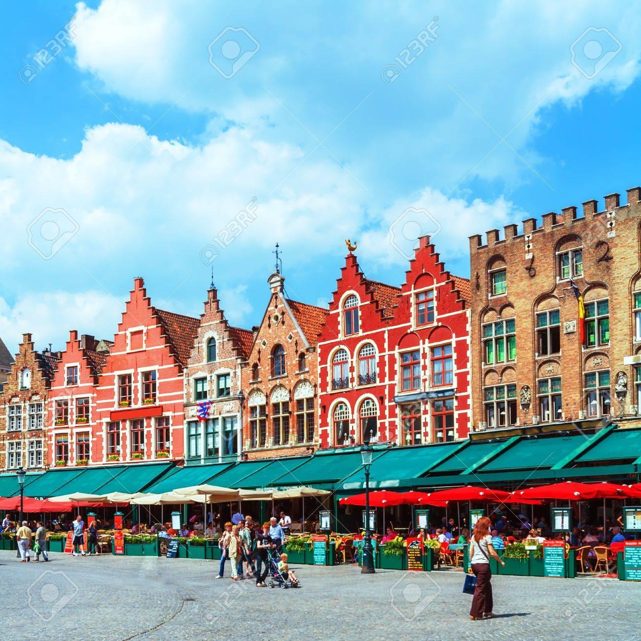 Plaza Del Mercado Brujas Bélgica