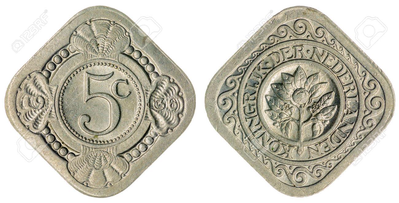 Kupfer Nickel 5 Cent 1936 Münze Isoliert Auf Weißem Hintergrund Die