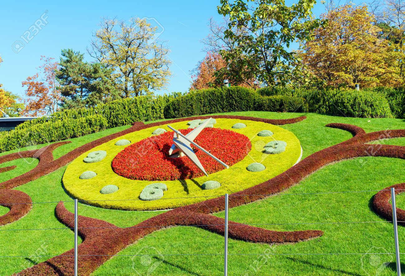 L Horloge Fleurie Or The Flower Clock In Jardin Anglais Park