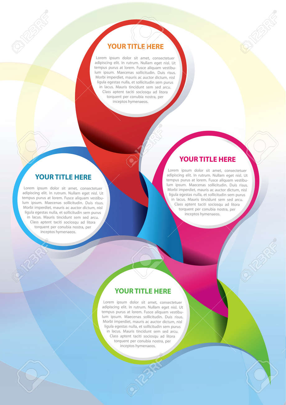 vector brochure background design concept for four texts royalty