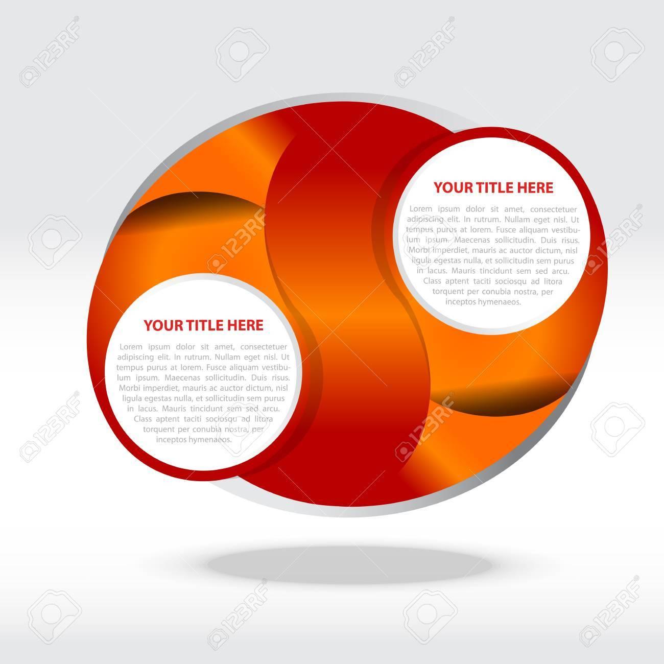 Zusammenfassung Orange Vektor Hintergrund Für Zwei Texte Lizenzfrei