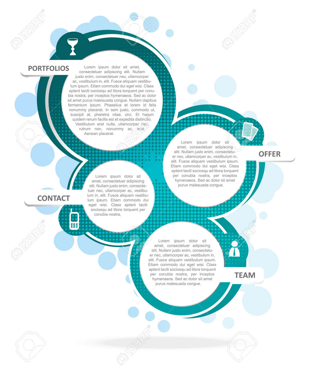 Background Concept Design For Brochure Or Website Royalty Free ...