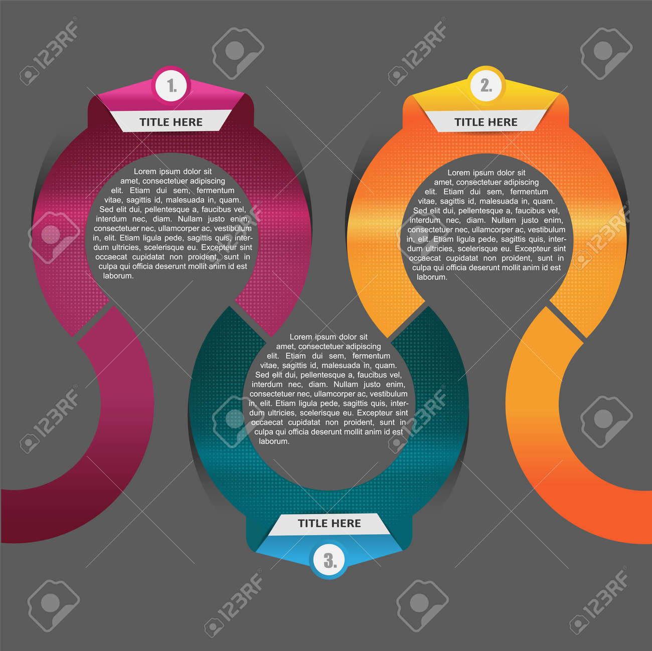 Abstract vector circle scheme background with three positions Stock Vector - 15012991