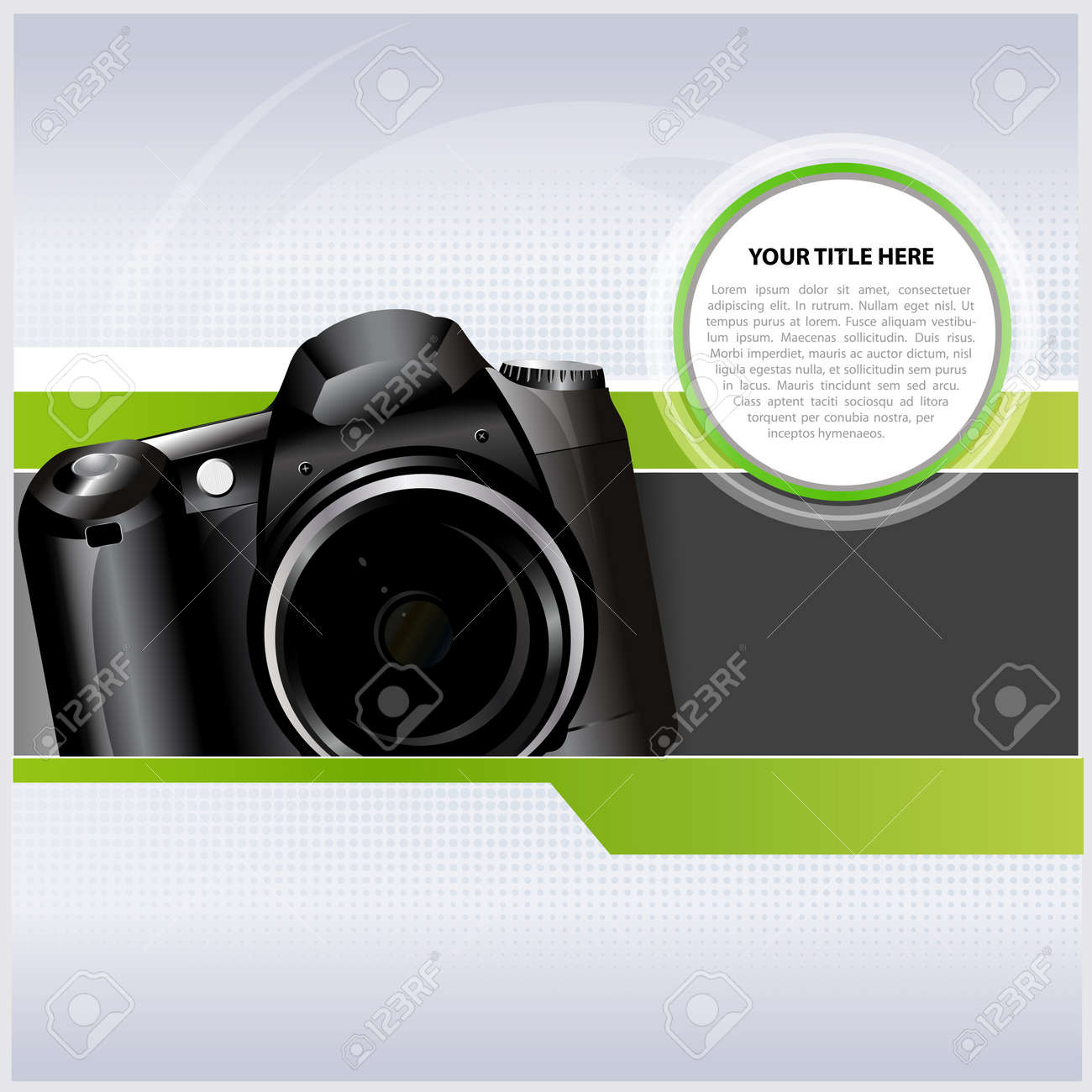 Abstract background with digital camera for text Stock Vector - 15904299