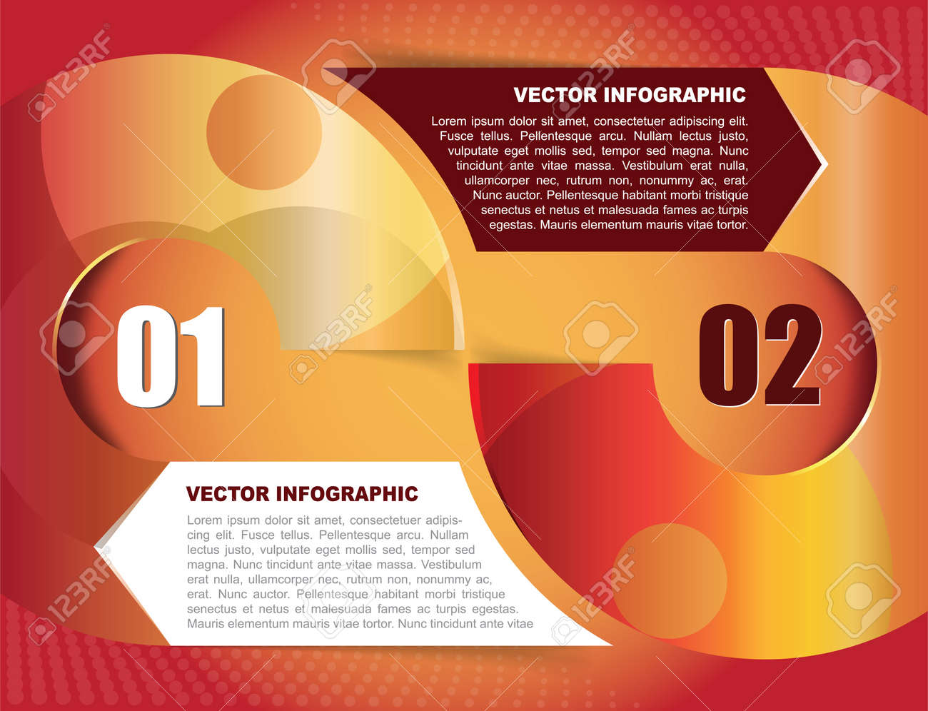 Abstract orange background with two spaces for text Stock Vector - 19574208