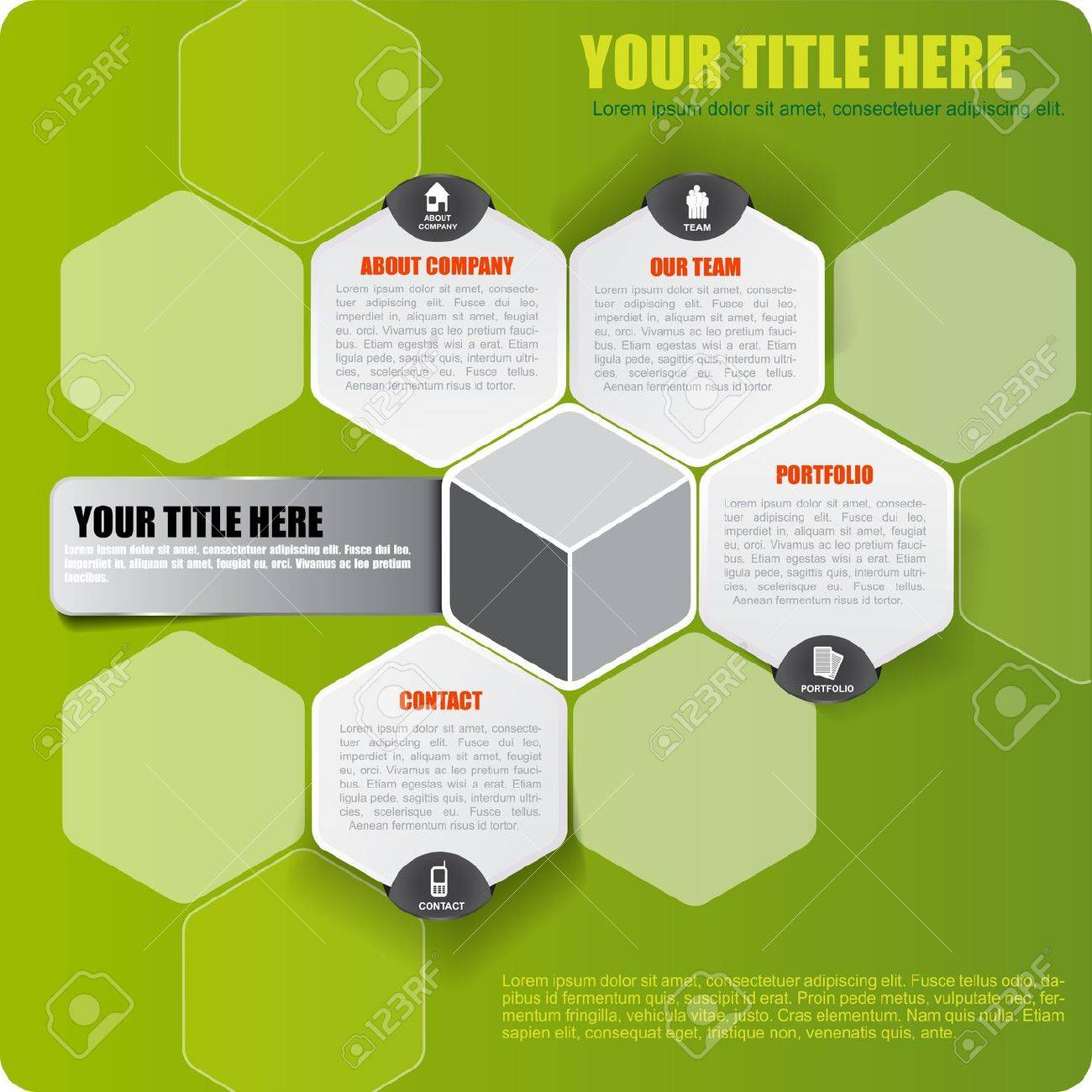 Abstract vector green infographic background with icons and place for text Stock Vector - 21566787