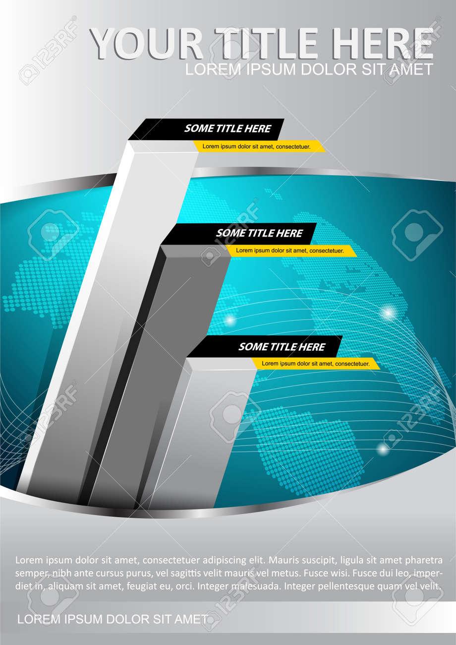 5ebe39181616 Banque d'images - Fond de vecteur économique avec le graphique et les  continents. Peut être utilisé pour la brochure, affiche, flyer et autres  impressions.