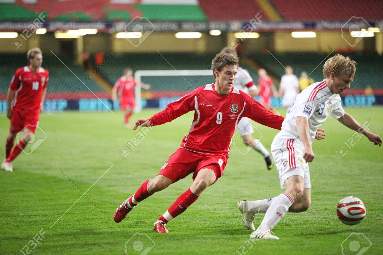 CARDIFF WALES SEPTEMBER 9 Aaron Ramsey left Wales And