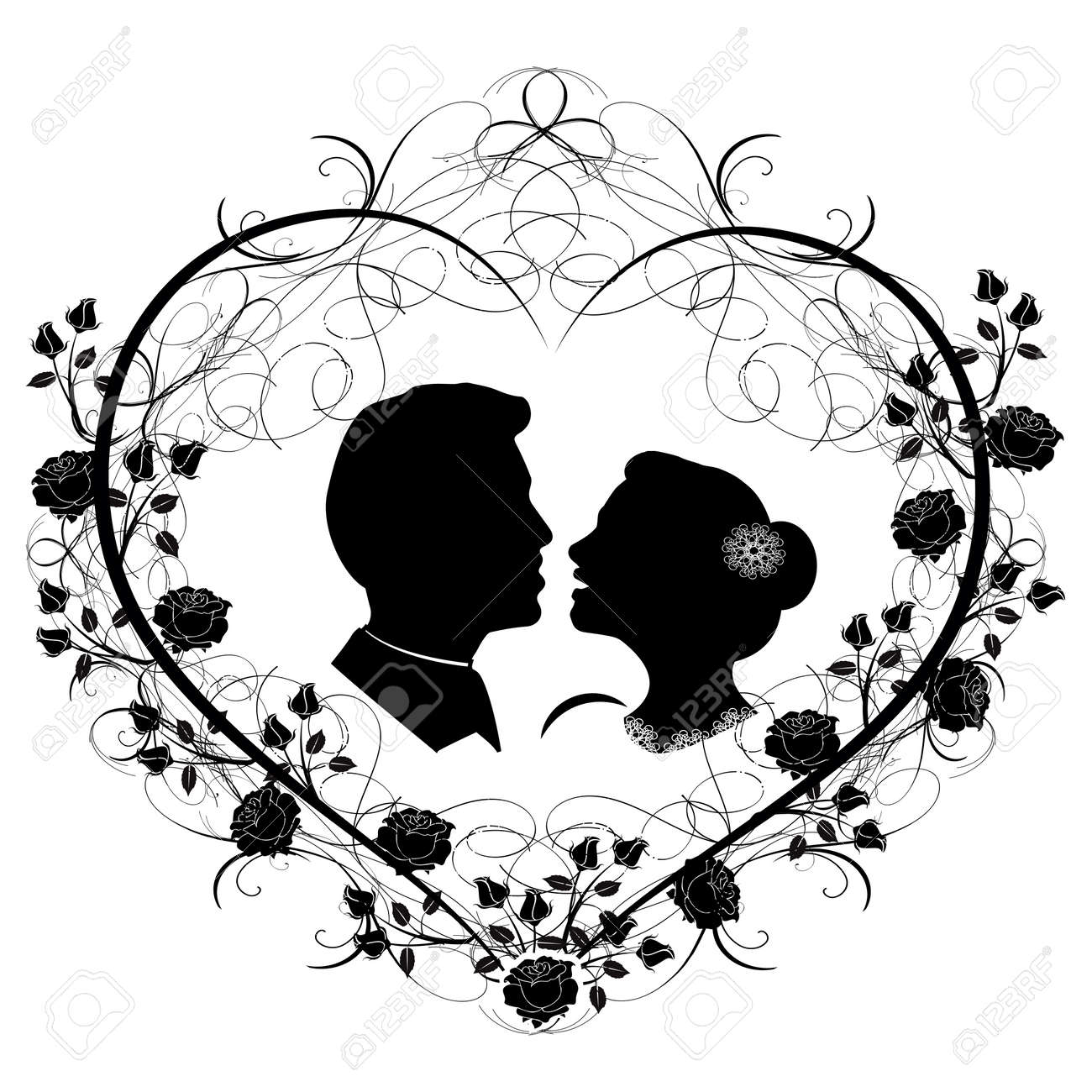 Wedding silhouette 12 royalty free cliparts vectors and stock vector wedding silhouette 12 junglespirit Gallery