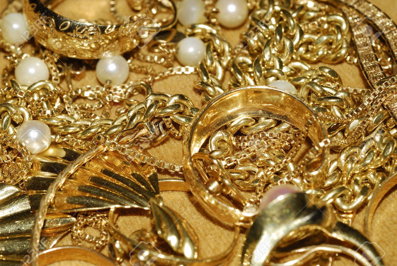 Gold Jewelry Stock Photo, Picture And Royalty Free Image. Image ...